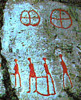 Petroglyph of cross in the circle